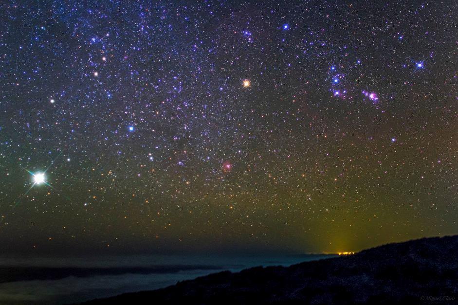 Jupiter night sky