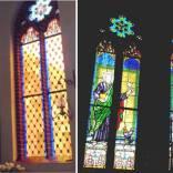 013 Miłakowo prezbiterium przed i po rekonstrukcji