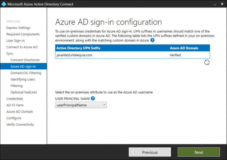 azure active directory sing-in configuration