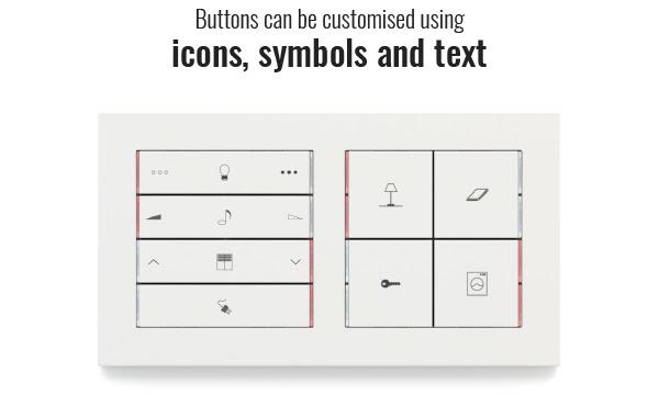 ekinex gravírování tlačítko vypínač switch