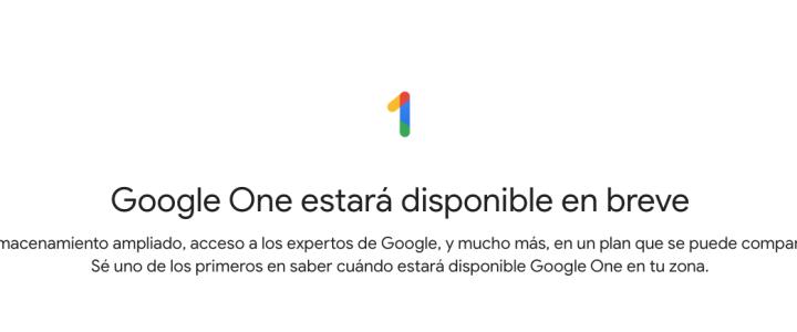 Google One, la nueva plataforma de almacenamiento en la nube