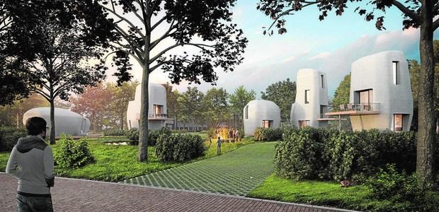Holanda crea la primera urbanización de viviendas en 3D