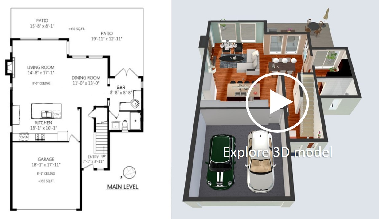 2d To 3d Floor Plan Conversion 3 Intellect Photography
