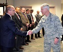 Gen. Shelton greets USAF network integration team