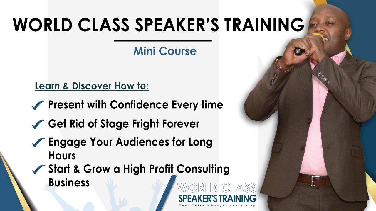 World Class Speakers Training – Mini Course