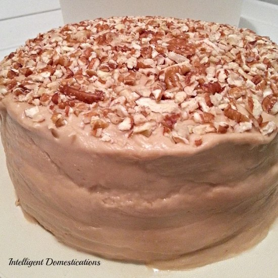 Caramel Cake with Caramel icing made from scratch