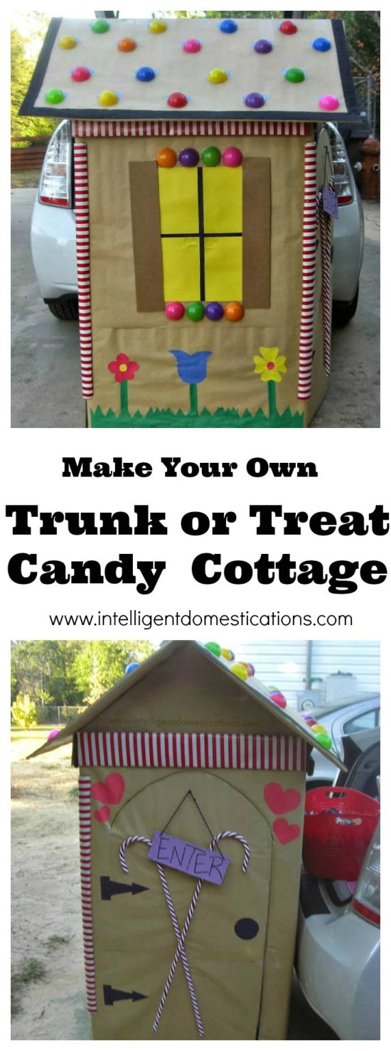 How to make your own Trunk or Treat Candy Cottage