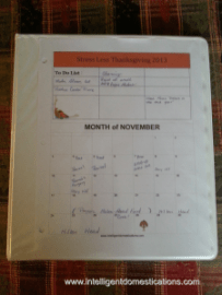 Thanksgiving Planning Guide Notebook