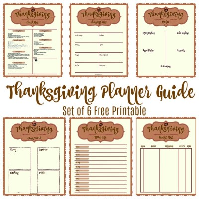 Free Printable Thanksgiving Planner Set
