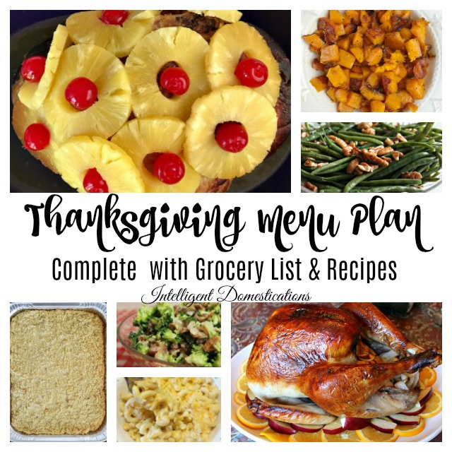 Printable Thanksgiving Menu Complete With Recipes And Grocery List For Ingredients Thanksgivingmenu