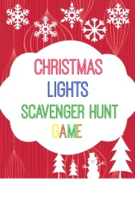 Christmas Lights Scavenger Hunt Game with Free Printable.www.intelligentdomestications.com