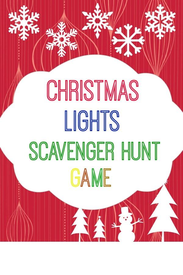Christmas Lights Scavenger Hunt Game free printable