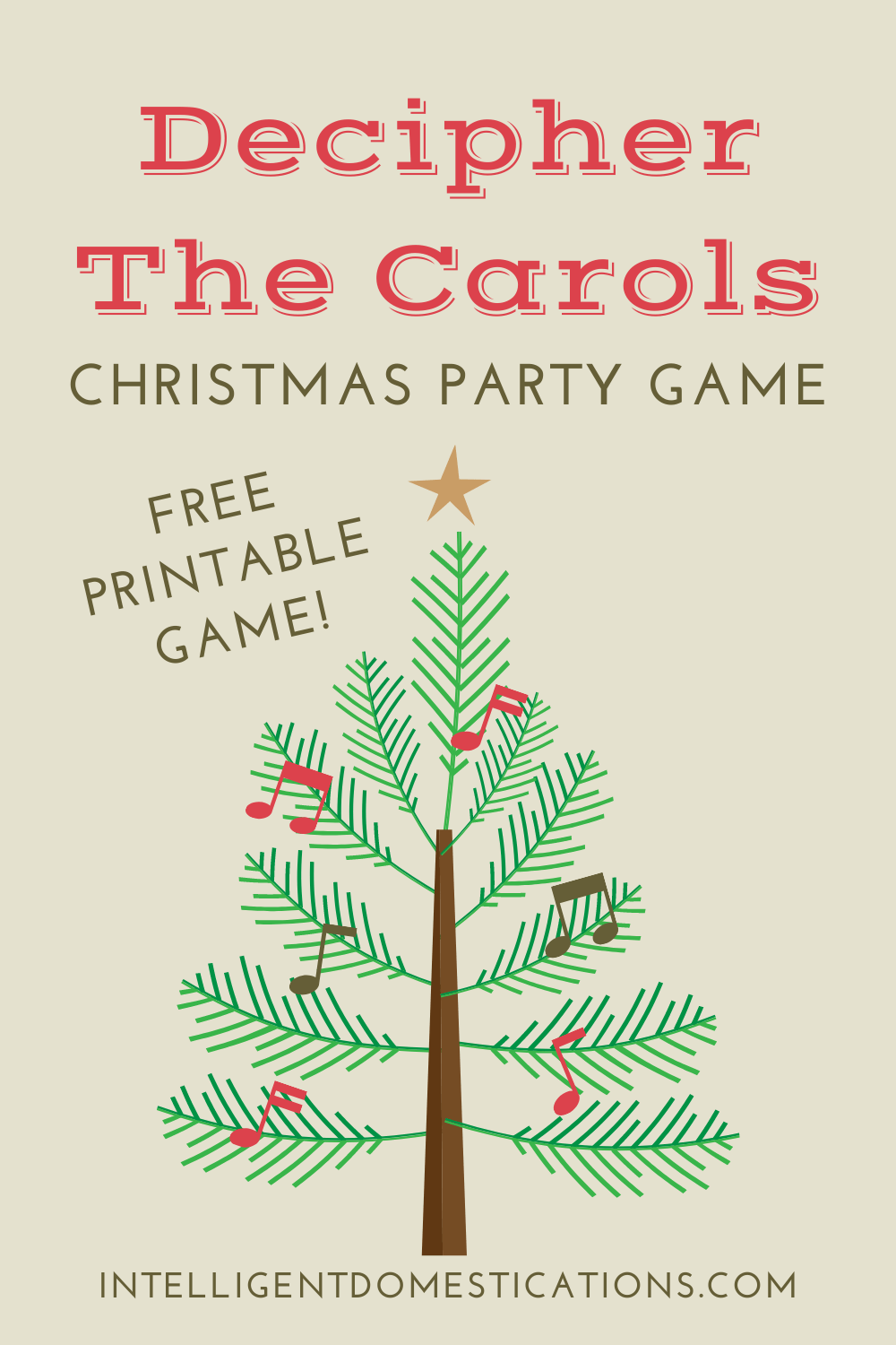 Decipher The Carols Christmas Party Game using pen and paper