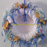 Construction Toys Adorn This Diaper Wreath