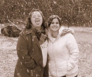 Me and Tif in the snow