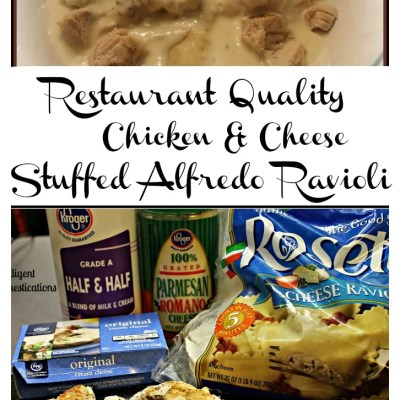 Easy Chicken & Cheese Stuffed Alfredo Ravioli