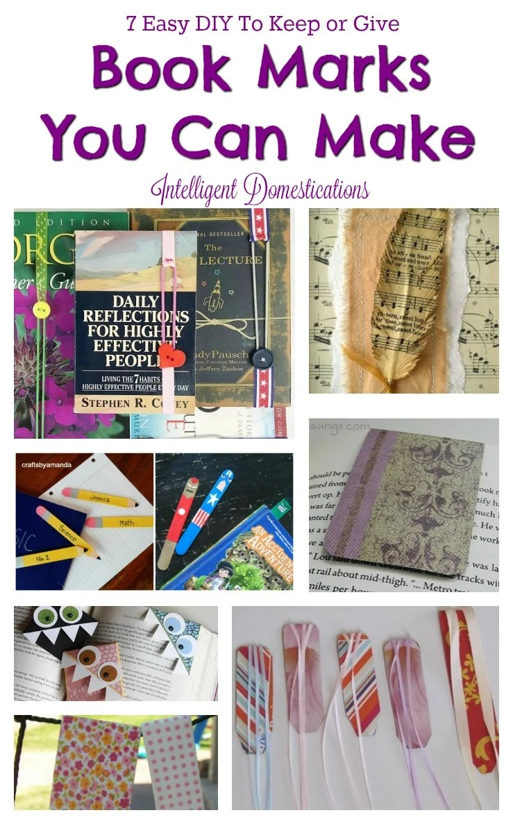 Bookmarks to make for gifts. 7 Easy DIY Book Marks to Make for yourself or as gifts. How to make a book mark.