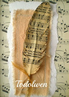 Hymn Feather Bookmark