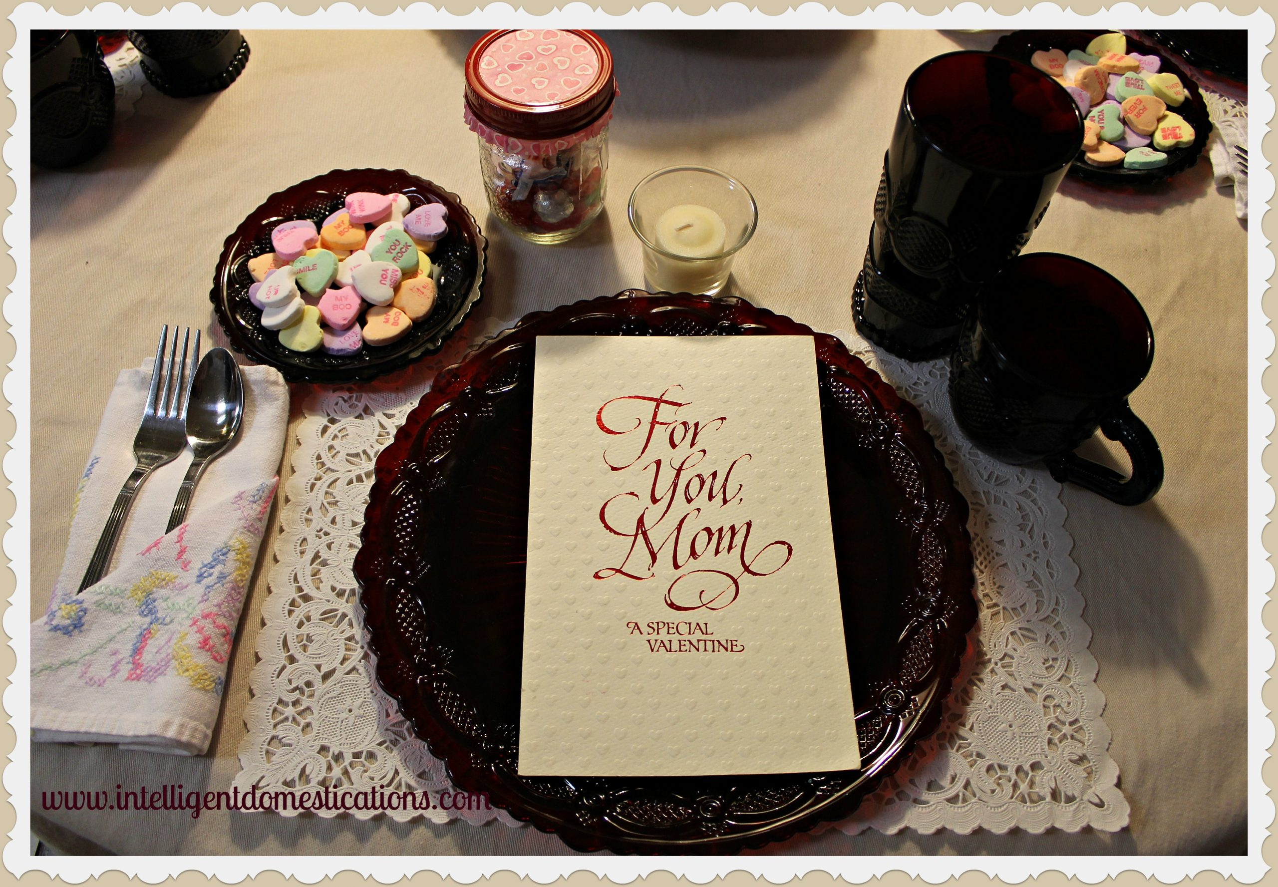 Valentine Tablescape Mom Intelligent Domestications