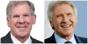 Dr. Frederick Schnell and Harrison Ford