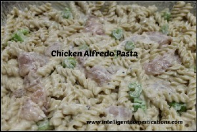 Freezer ready Chicken Alfredo Pasta.intelligentdomestications.com