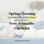 Spring CleaningFree Printable Checklist