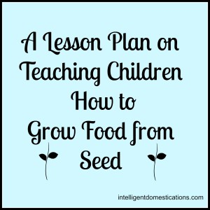 Lesson Plan on How to Teach Children to Grow Food from Seed by intelligentdomestications.com