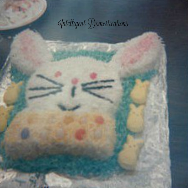 "How to make the Easter Bunny Cake from two 8"" round cakes. Easter Bunny Cake. How to make an Easter Bunny Cake"