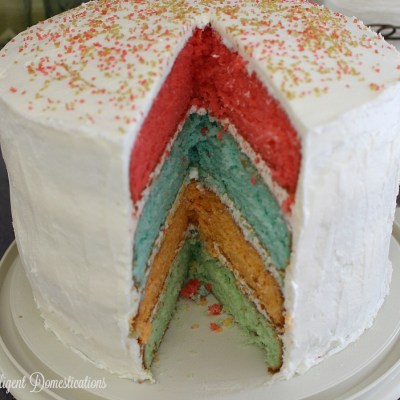 Four Flavor Rainbow Layer Cake