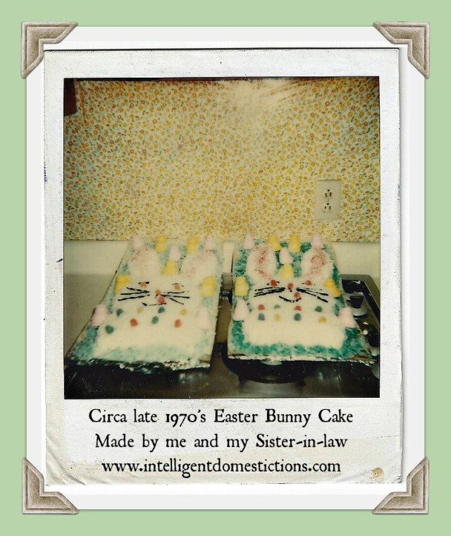 How to Make the Easter Bunny Cake decorated with tinted coconut. Use two round cakes to make this cute Easter Bunny cake. #easter