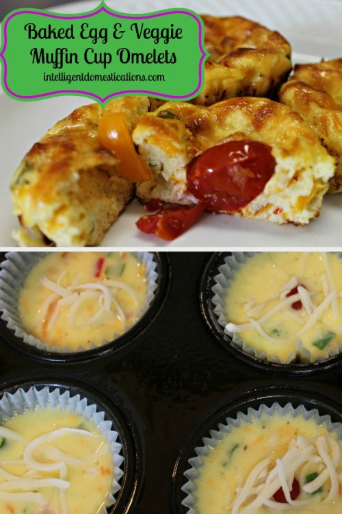 Baked Egg and Veggie Muffin Cup Omelet Recipe. How to bake eggs in muffin cups. #bakedeggs #muffincuprecipes #breakfastrecipes