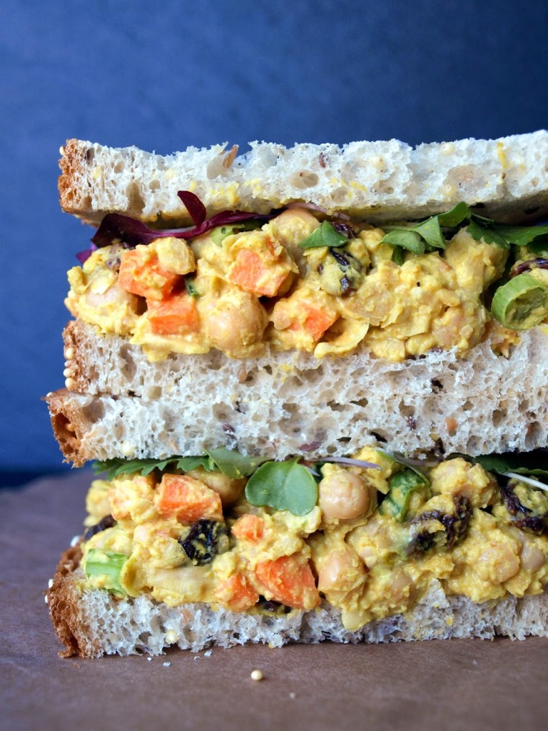 Curried Chickpea Salad Sandwich by The Simple Veganista