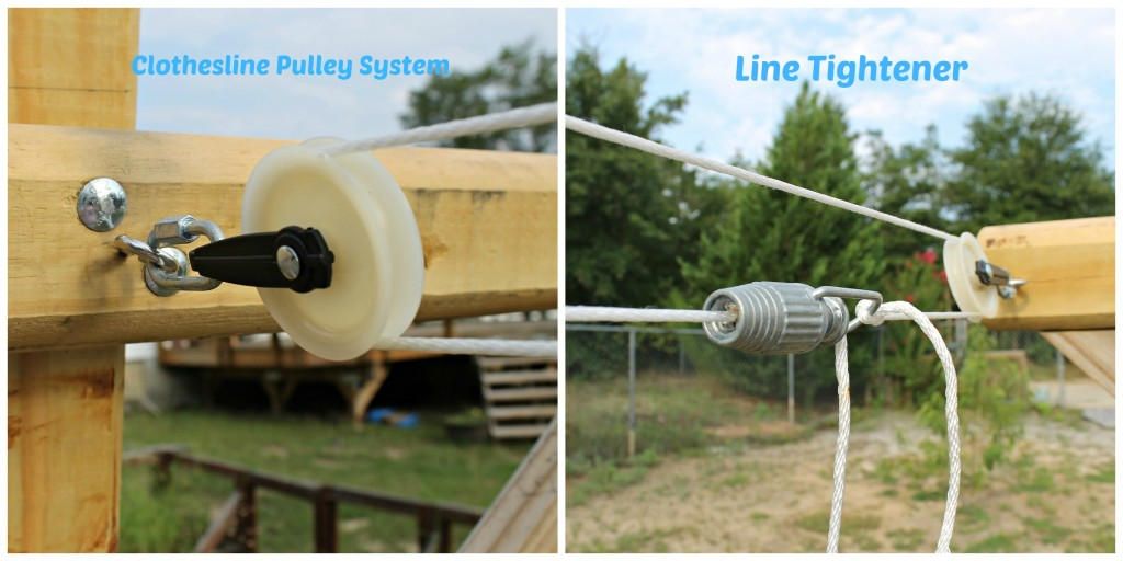 Clothesline Pulley System and Line tightener installed.intelligentdomestications.com
