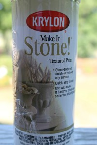 Krylon Stone Paint used on porch chandelier.intelligentdomestications.com