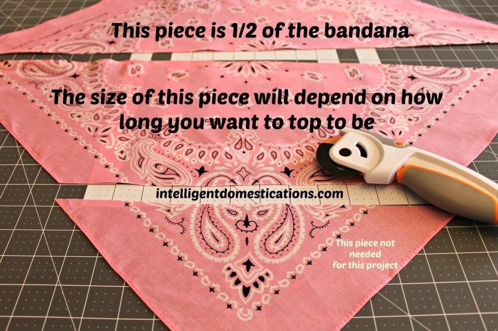 Ruffled Bandana Child's Halter Top.Step 1.intelligentdomestications.com