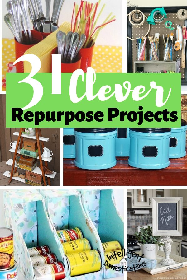 31 Clever Ideas to Repurpose common household items. Create storage and decor by repurposing things you have around the house. #repurpose #upcylce