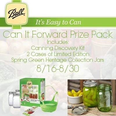 Ball Canning Jars Can It Forward Giveaway
