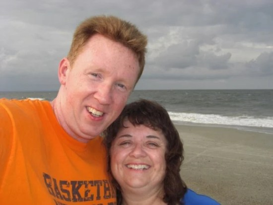 Stacy and I on beach at Tybee. Intelligent Domestications blog owners #intellid