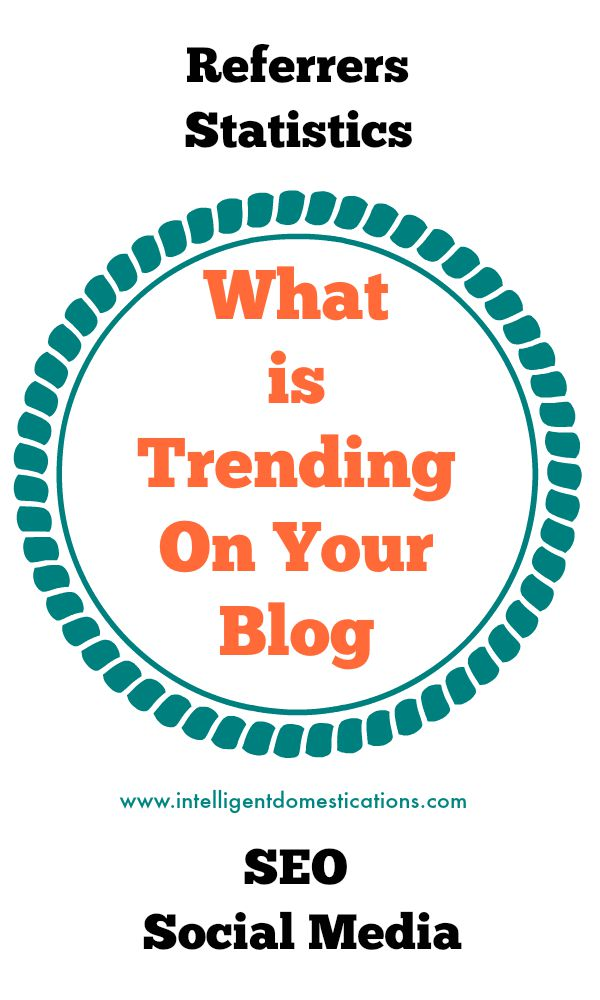 What Is Trending On Your Blog. How to find your trending posts and which social media sites are working best for your blog.www.intelligentdomestications.com