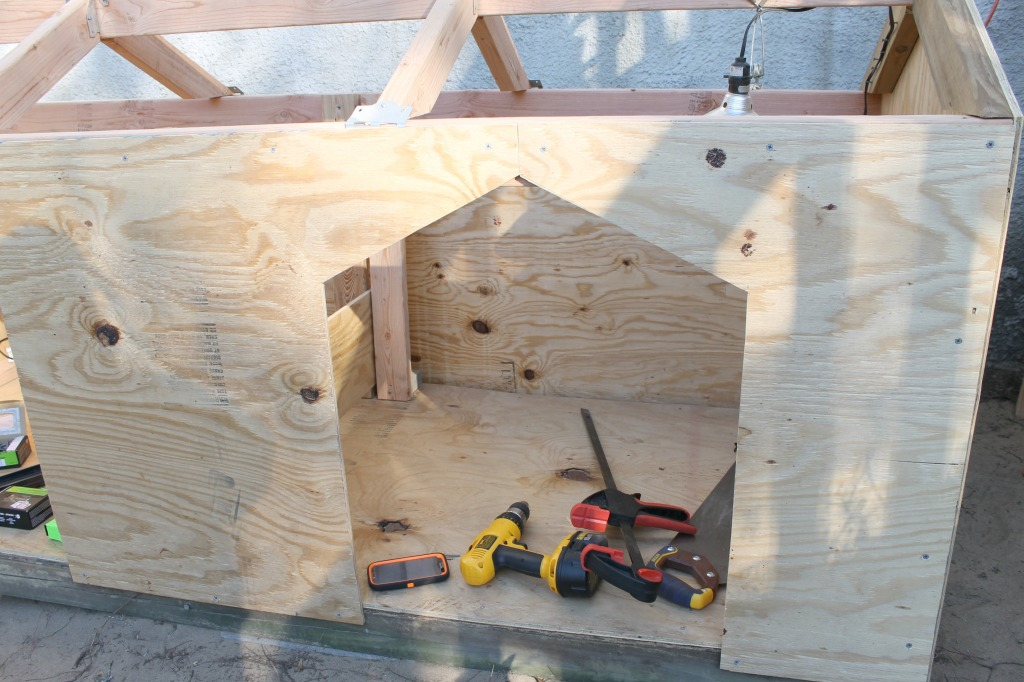 Dog House in the making.8.Find plans and instructions at www.intelligentdomestications.com - Copy