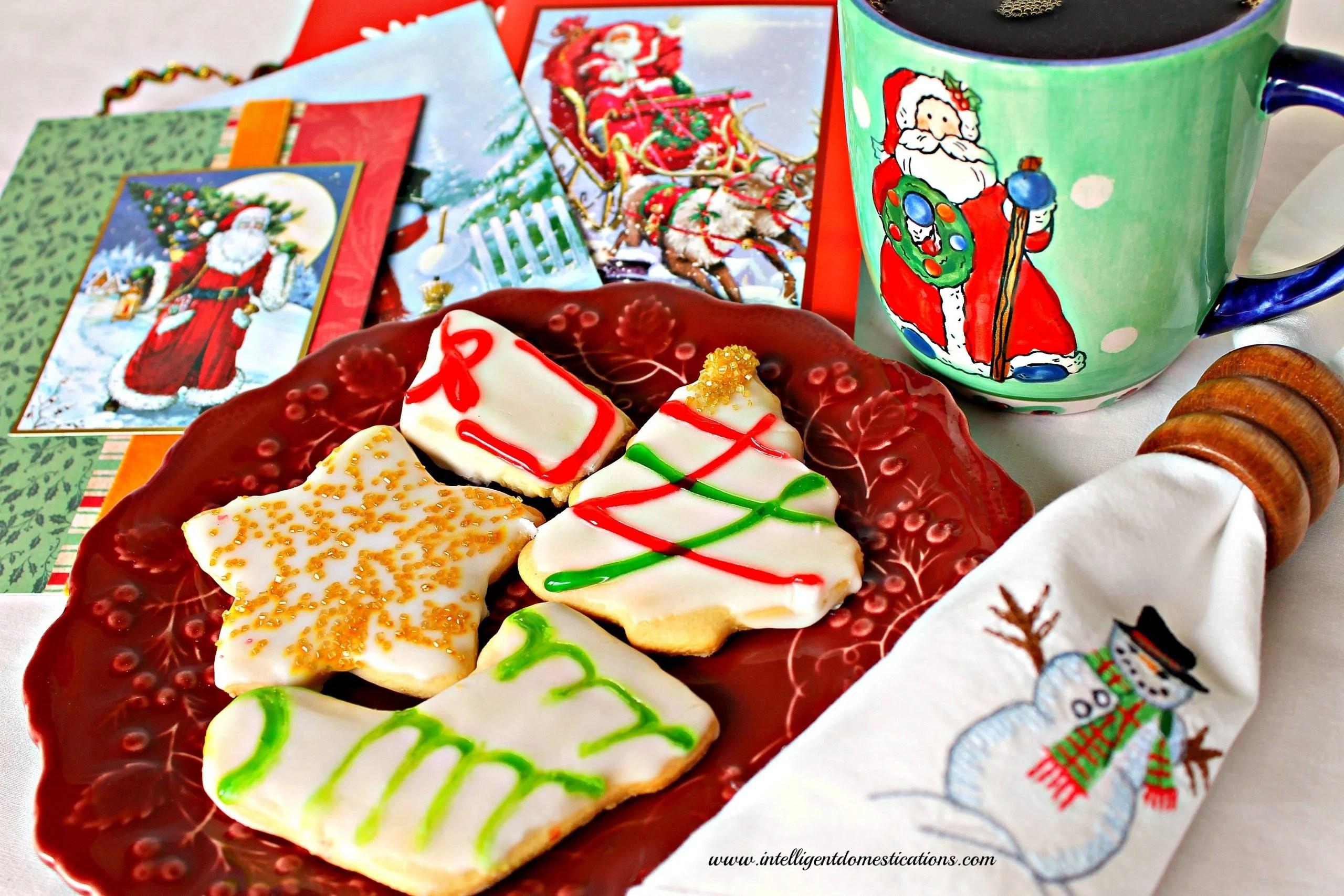 Old Fashioned Tea Cake Christmas Cookies Intelligent
