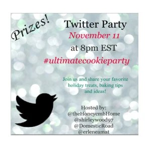 Twitter Party Invitation Graphic for the Ultimate Virtual Cookie & Goodies Party and Giveaway Event