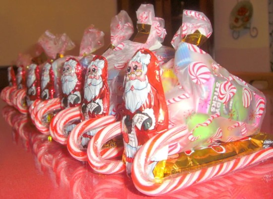 How to make a Santa's Candy Sleigh. #Christmas