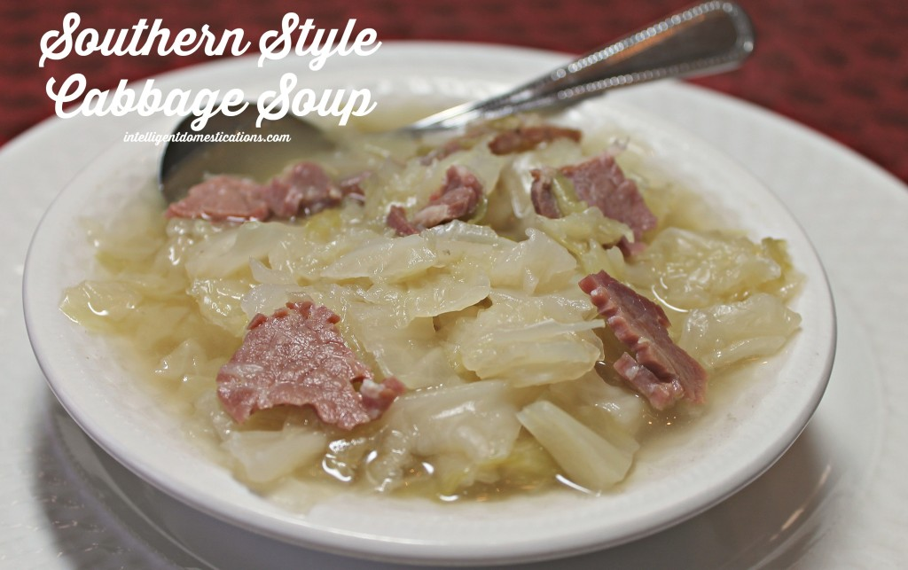 Southern Style Cabbage Soup. Find the recipe at www.intelligentdomestications.com