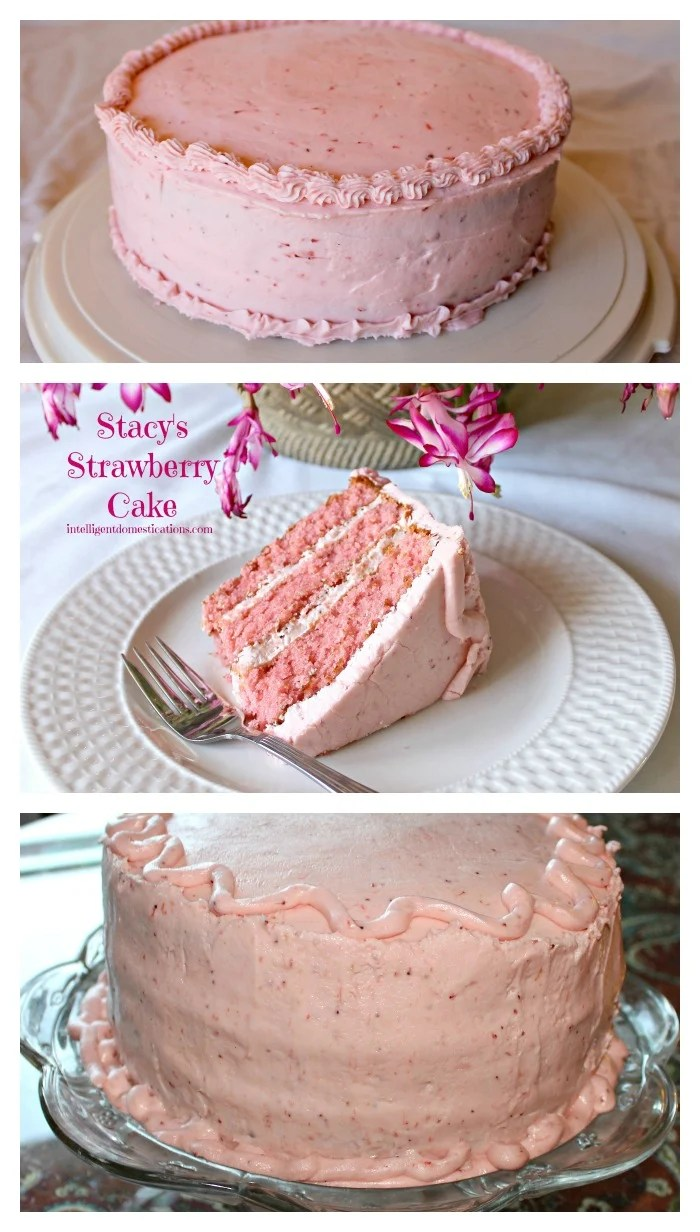 Stacy\'s Strawberry Cake with Strawberry Butter Cream Frosting ...