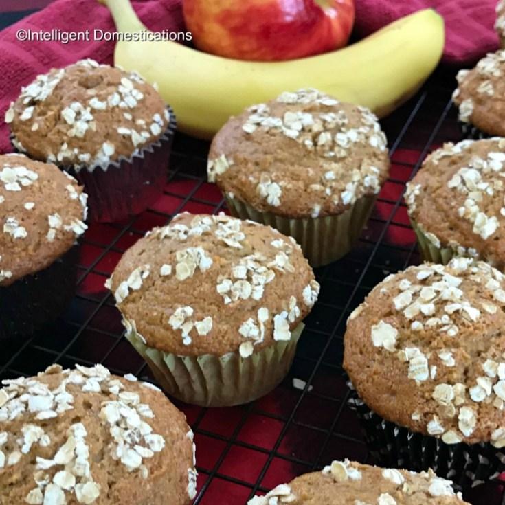 Apple Banana Oat Muffins