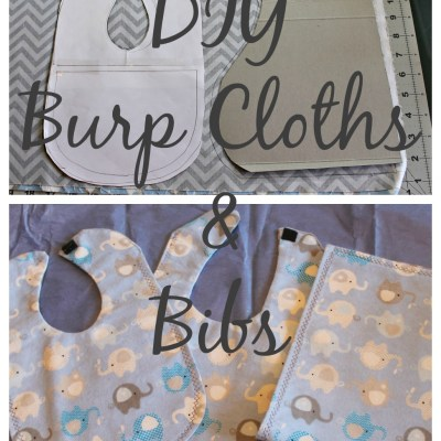 DIY Burp Cloths and Bibs