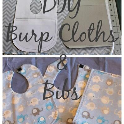 DIY Burp Cloths and Bibs