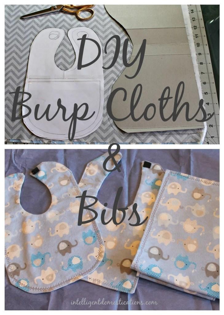 DIY Burp Cloths & Bibs.intelligentdomestications.com