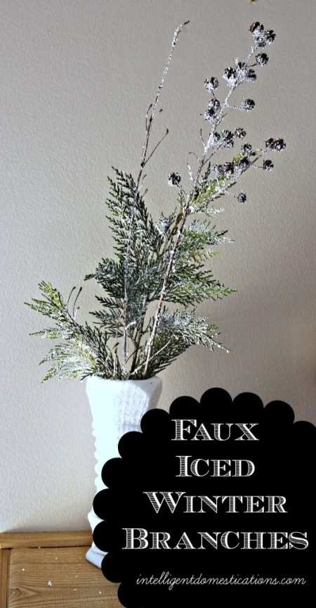 Faux Iced Winter Branches.intelligentdomestications.com